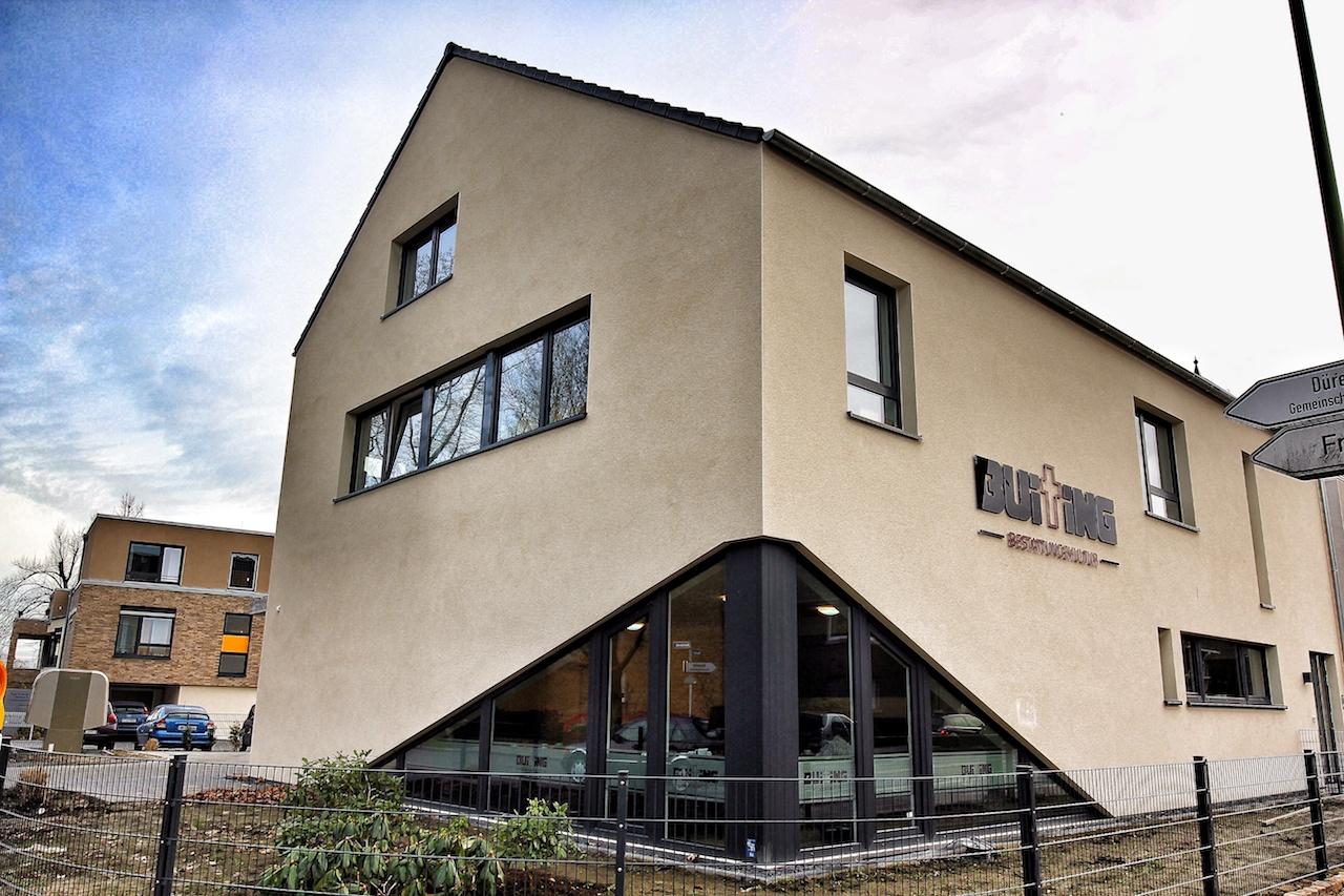 Außensanischt neues Gebäude